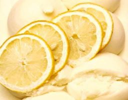 Helado de limón vegano