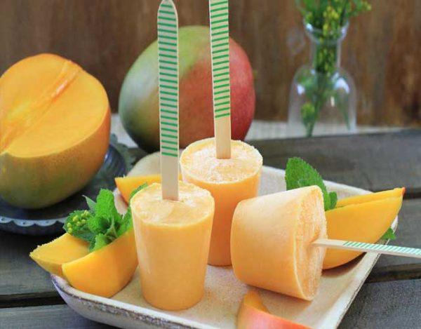 Helado de melón y mango