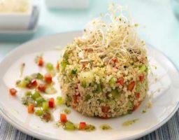 Wok de quinoa y verduras