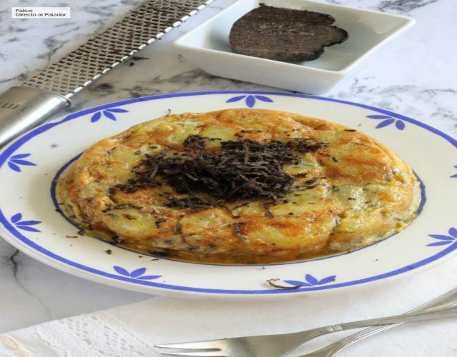 Tortilla de patata con trufa