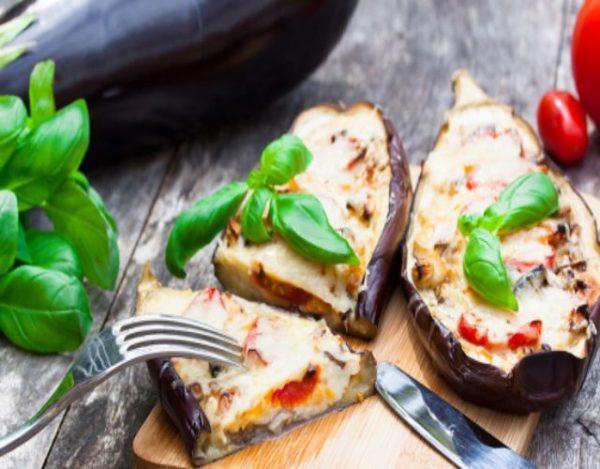 Receta de Berenjenas con atún y mozzarella