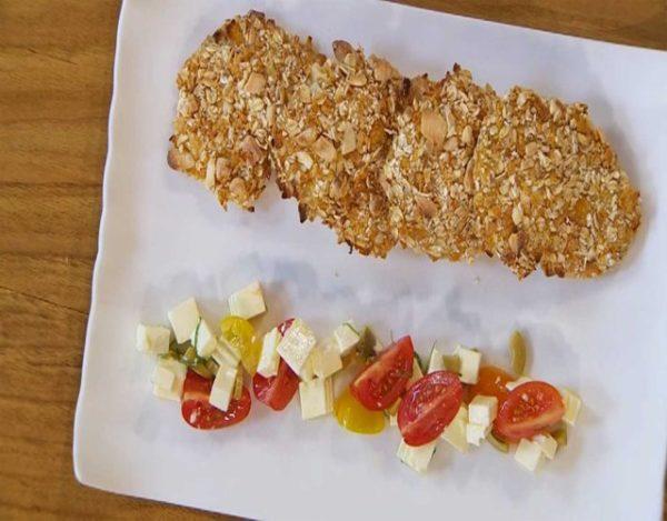 Receta de Pollo frito con almendras