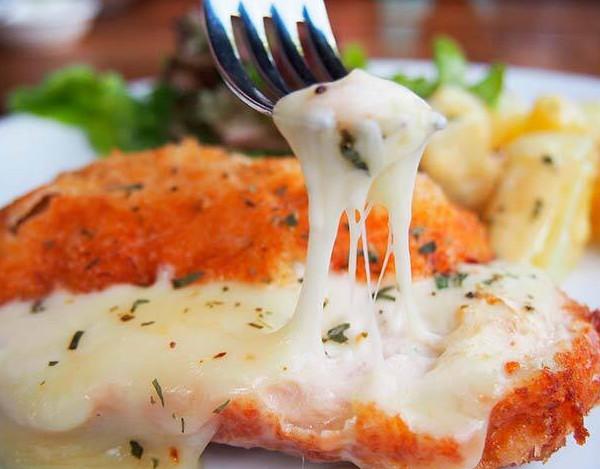 Receta de Pollo empanado con queso