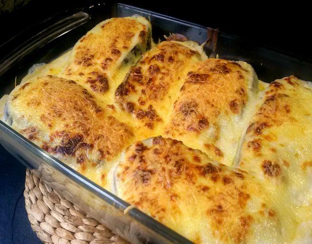 Berenjena con atún y mozzarella