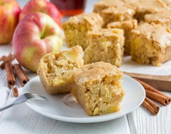 Receta de Brownie de manzana