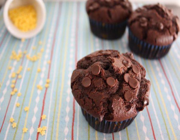 Receta de Magdalenas de Chocolate vegano