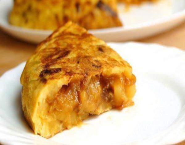 Receta de Tortilla de cebolla caramelizada
