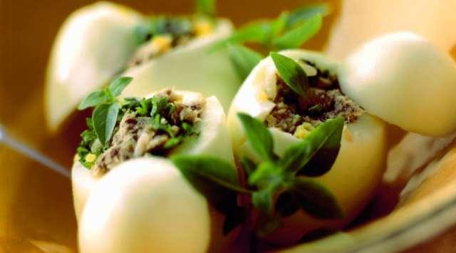 Huevos Rellenos Vegetarianos