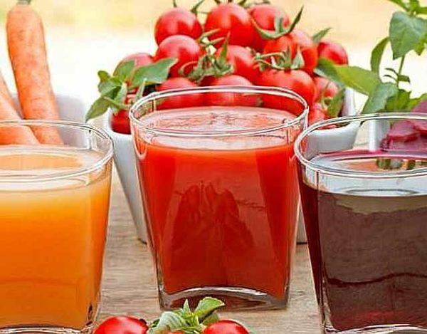 Zumo de tomate y zanahoria