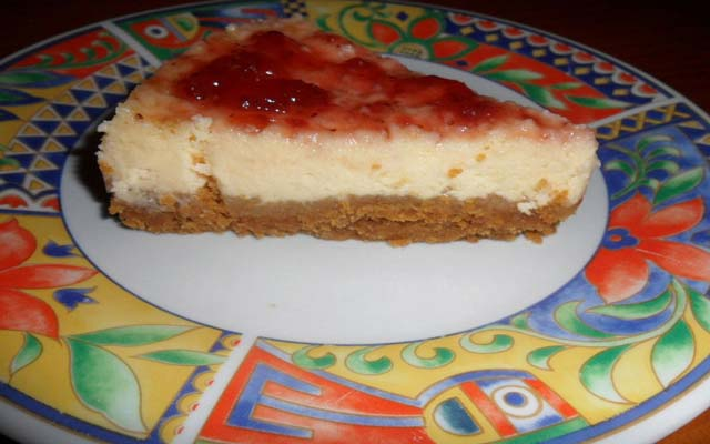 Cheesecake en microondas
