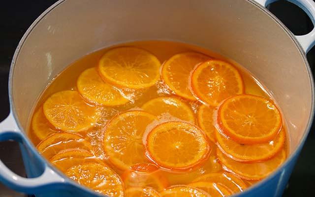 mandarina en almíbar