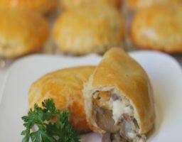Receta de Empanadas de pollo y Champiñones