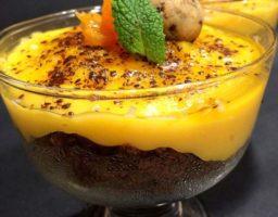 Crema de mandarina y chocolate