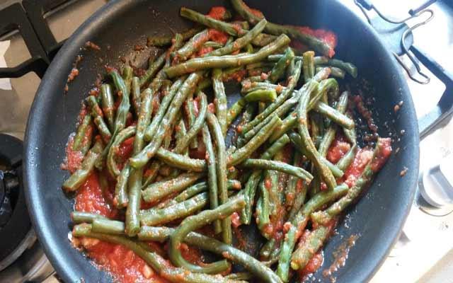 Judías verdes en salsa