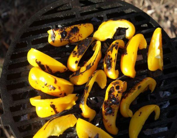 Receta de Pimientos amarillos asados