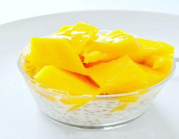 Pudding de mango