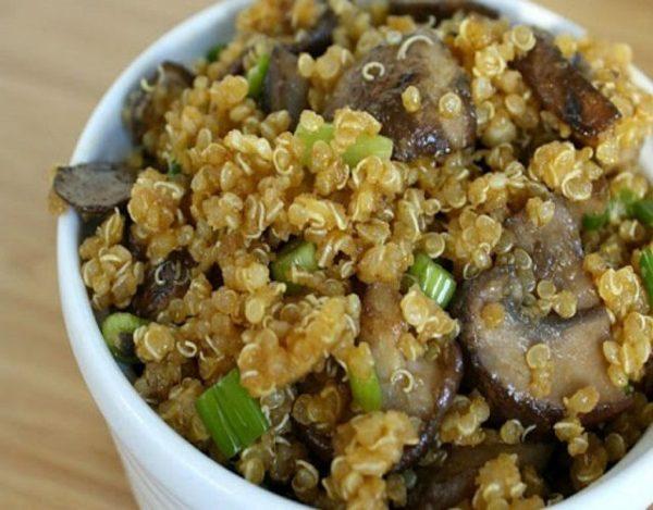 Quinoa con champiñones
