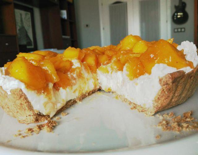 Receta de Tarta mascarpone y mango
