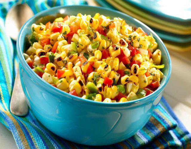 Receta de Ensalada de maíz y pepino