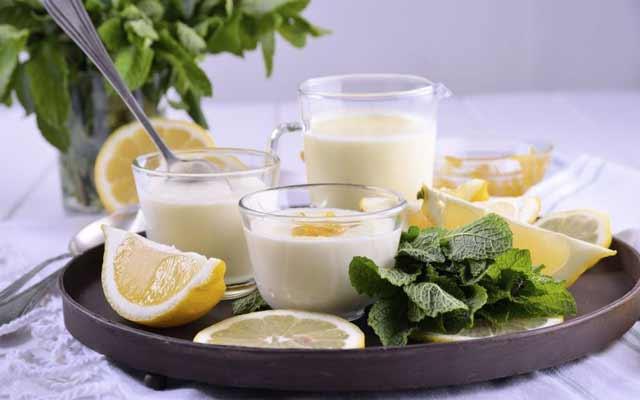 Panna cotta de limón
