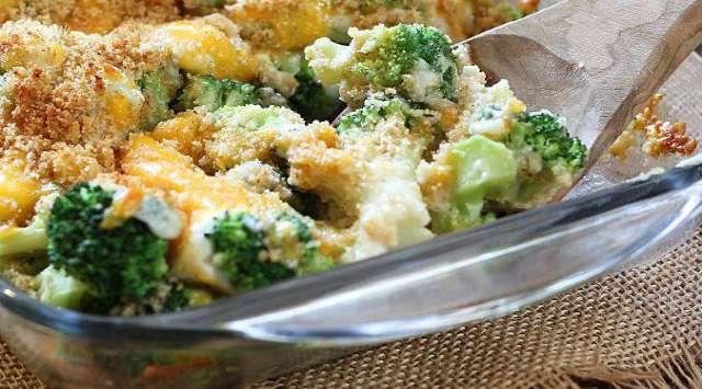 Brócoli con Jamón Gratinado