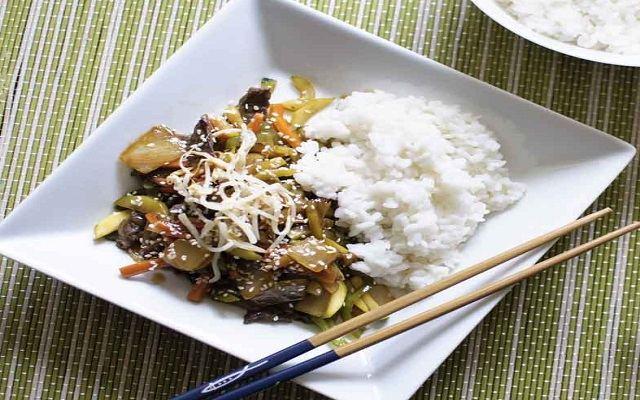 Chop suey en olla exprés