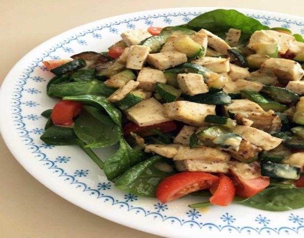 Receta de Ensalada templada con tofu