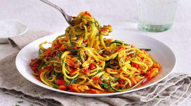 Espaguetis con Salsa Peperonata