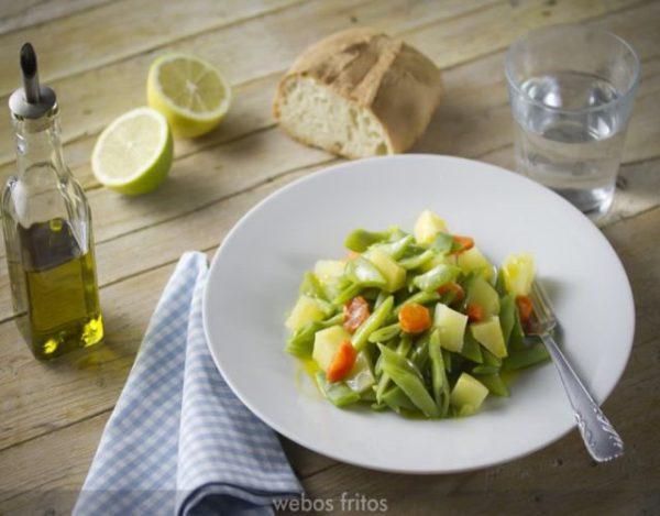 Receta de Judías Verdes con Patatas y huevos