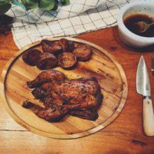 Pollo rústico al horno