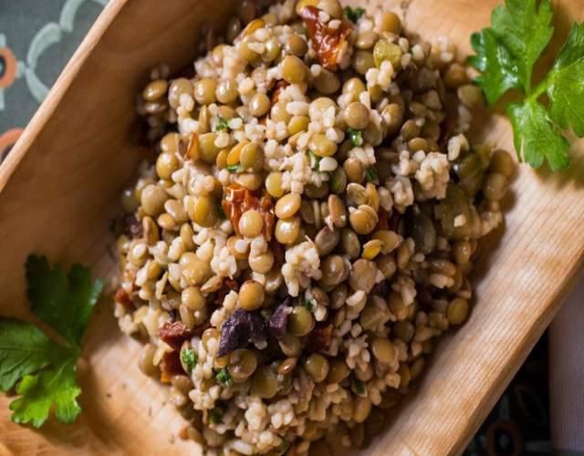 Receta de Ensalada de lentejas y quinoa vegana