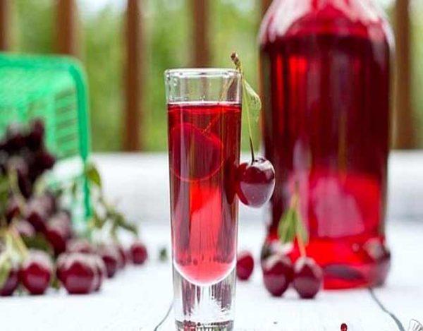 Licor de cereza casero