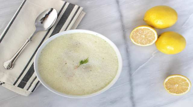 Sopa Griega de Limón