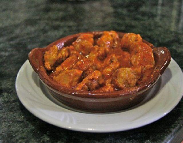 Mollejas de cerdo en salsa