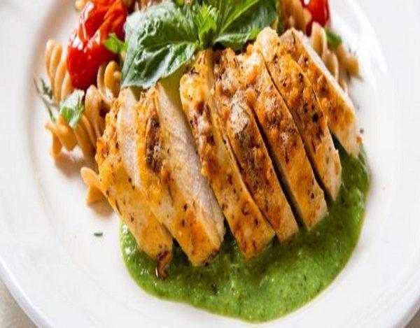 Pollo al pesto verde