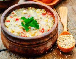 Sopa de quinoa sin gluten