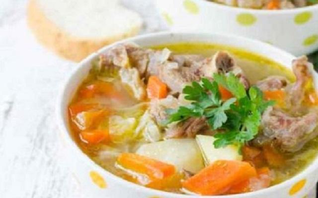 Sopa de ternera
