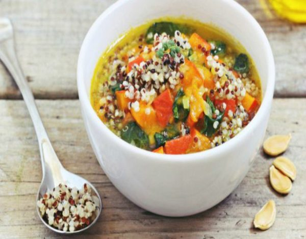 Receta de Sopa de quinoa y verduras