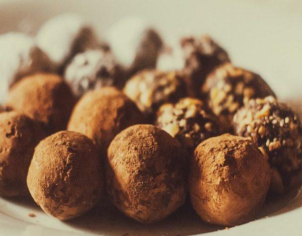 Trufas de chocolate y cava