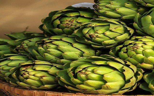 Alcachofas rellenas de queso