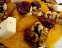 Ensalada de naranja y frutos secos