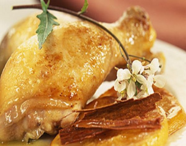 Receta de Muslos de pollo a la naranja