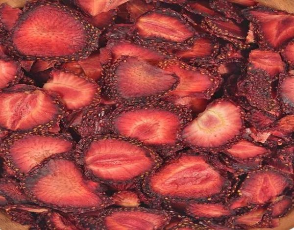 Fresas deshidratadas
