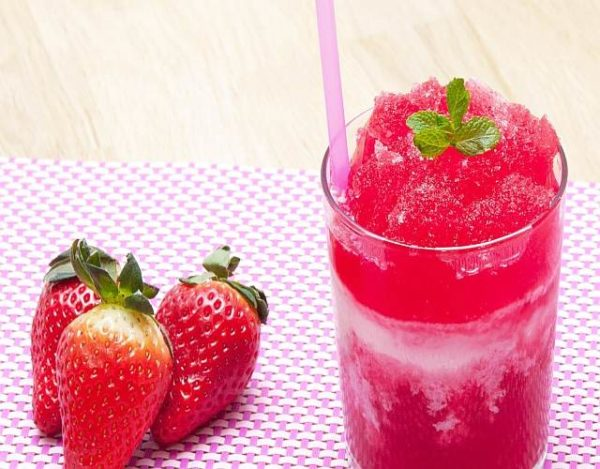 Granizado de fresa
