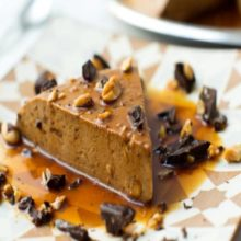 Flan de chocolate y nueces