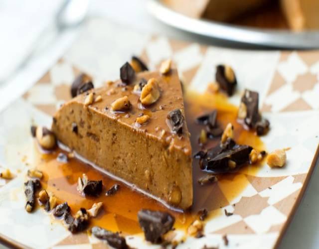 Flan de chocolate y nueces