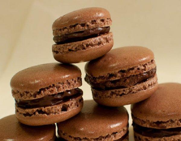 Macarons con chocolate