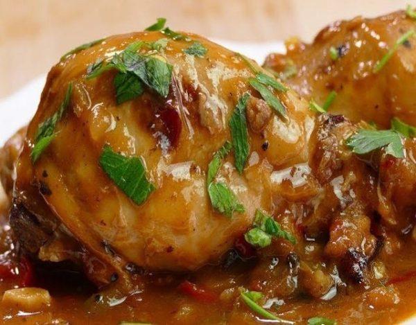 Muslitos de pollo guisados