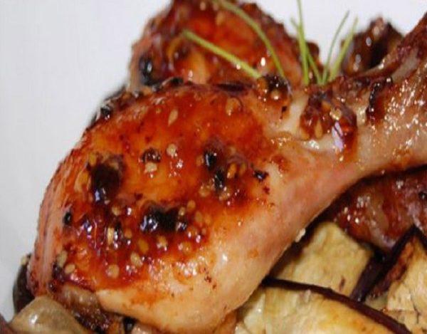 Muslos de pollo caramelizados