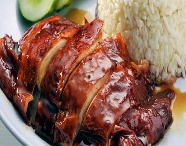 Pollo en salsa de soja y miel